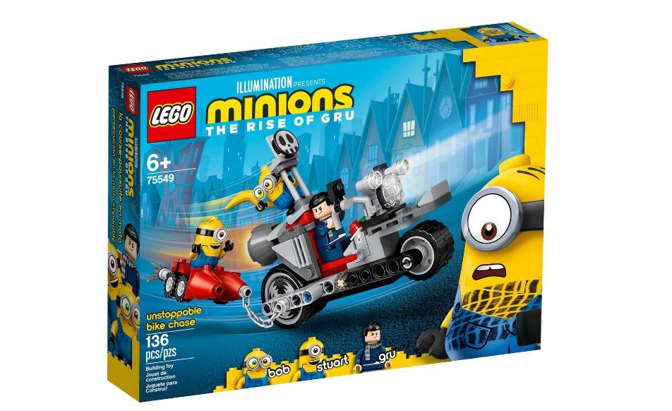 Lego Minions A Ascensão Do Gru Perseguição De Moto Sem Fim 136 Pçs 75549