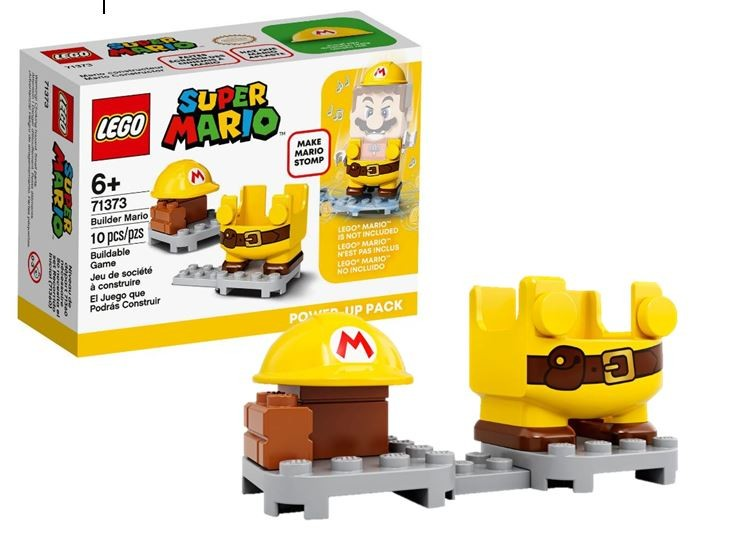 Lego Super Mario Pacote Power Up Mario Construtor 71373