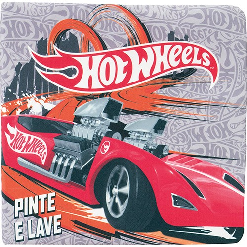 Livro Infantil Pinte e Cole Hot Wheels 73456 Fun