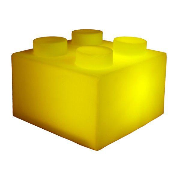 Luminaria Bloco Amarelo Usare