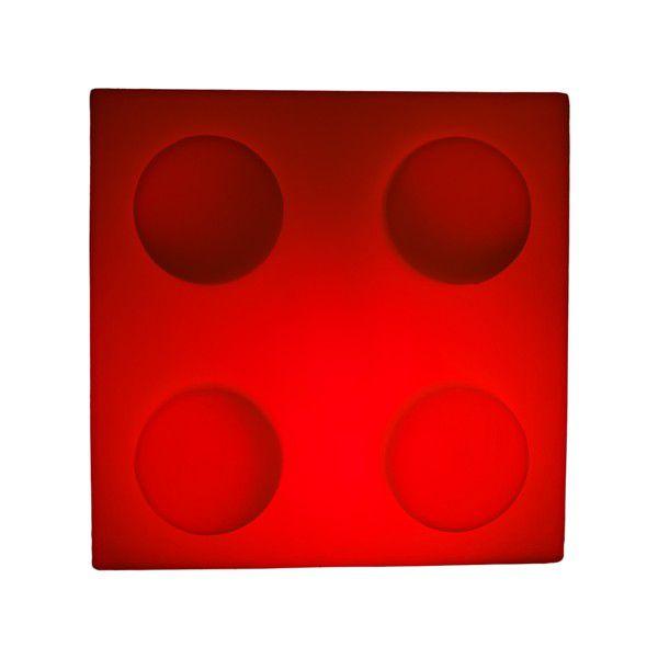 Luminária Bloco Vermelho Usare