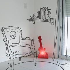 Luminaria Guitarra - Vermelha Usare