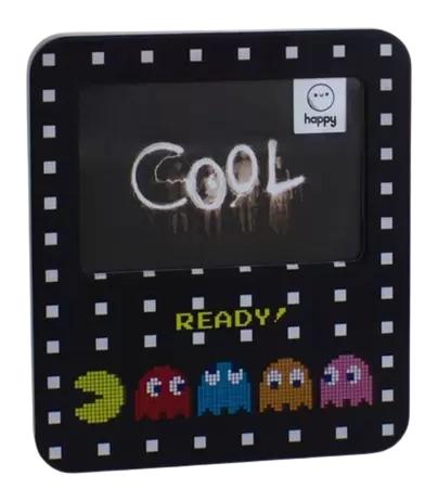Luminária Pac-Man Porta Retrato 22 cm de Altura Happy