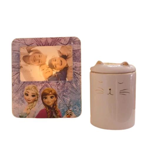 Luminária Porta Retrato Frozen 23 cm De Altura Happy