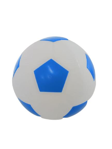 Luminária Temática Bola De Futebol Branca e Azul 25 cm De Altura Usare