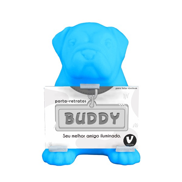Luminária Temática Buddy Azul 24 cm De Altura Usare