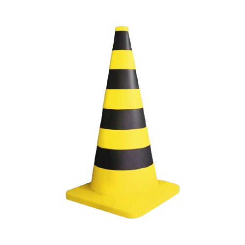 Luminária Temática Cone de Trânsito Amarelo 62 cm De Altura Usare