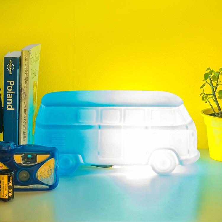 Luminária Temática Kombi Azul 14 cm De Altura Usare