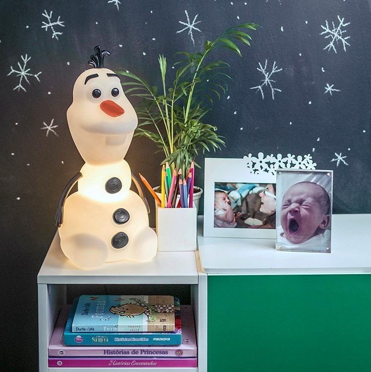 Luminária Temática Olaf Disney 36 cm De Altura Usare