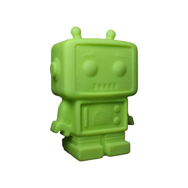 Luminária Temática Robô Verde 32 cm De Altura Usare