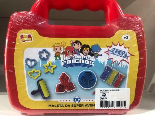MALETA DA SUPER AVENTURA  MASSA DE MODELAR - DC - SUPER AMIGOS - SUNNY