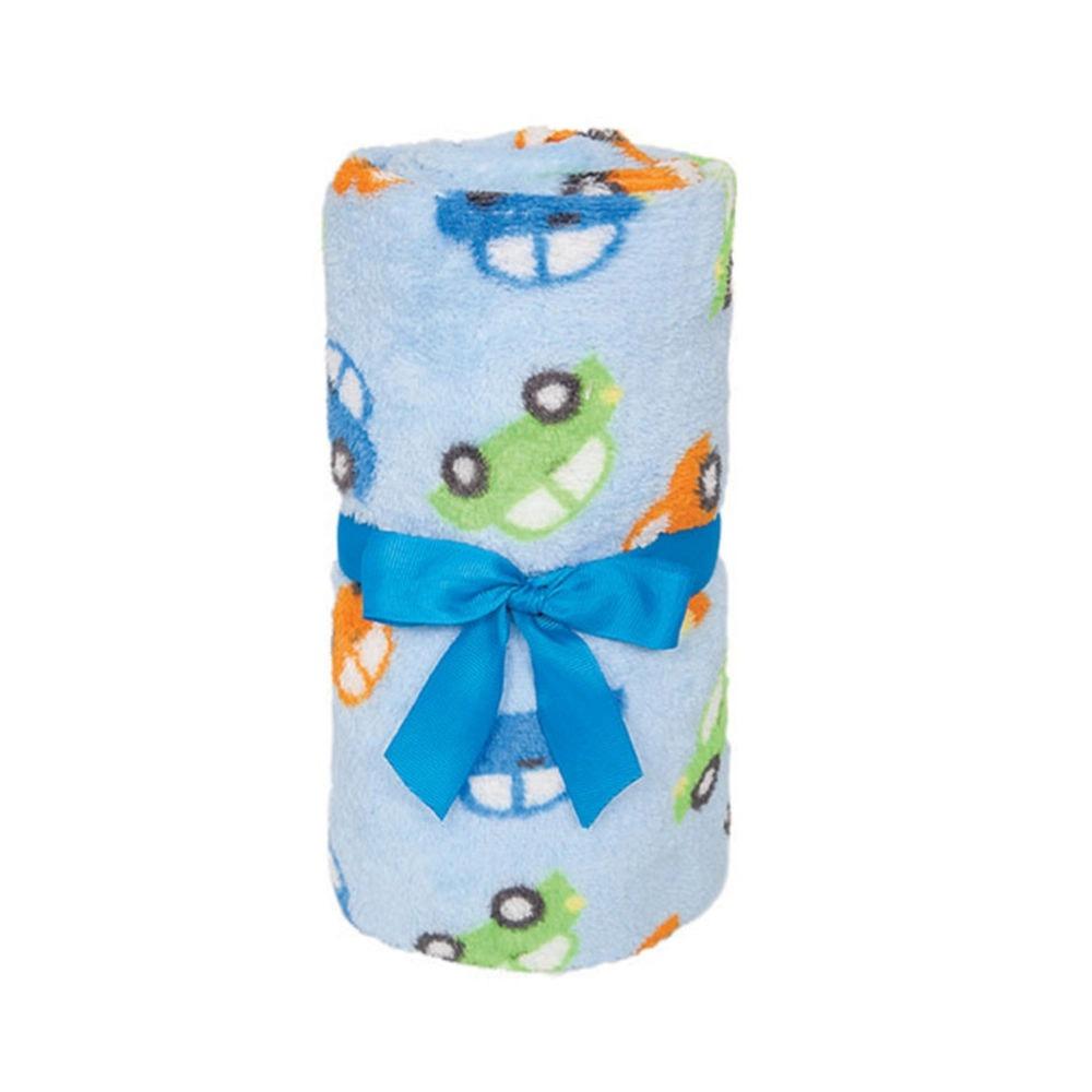 Mantinha Para Bebê Carrinhos Azul Buba 5956