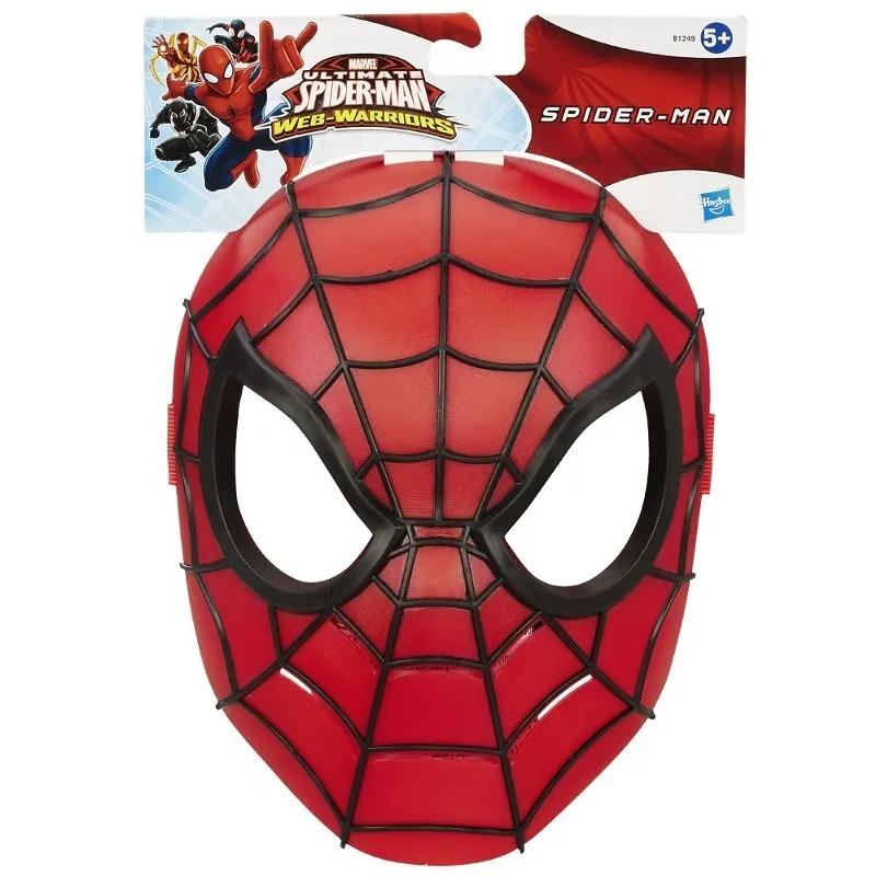 Máscara Infantil Temática  Homem Aranha Ultimate Com Apoio Emborrachado Marvel Hasbro