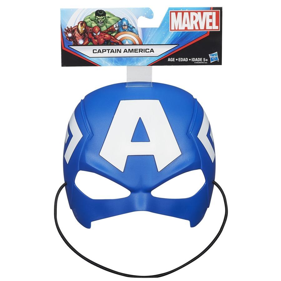Máscara Infantil Temática Maleável Capitão América Marvel Avengers Hasbro
