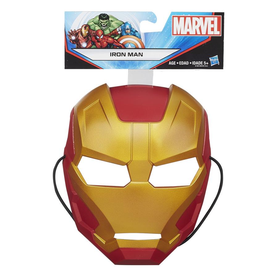 Máscara Infantil Temática Maleável Homem De Ferro Marvel Avengers Hasbro