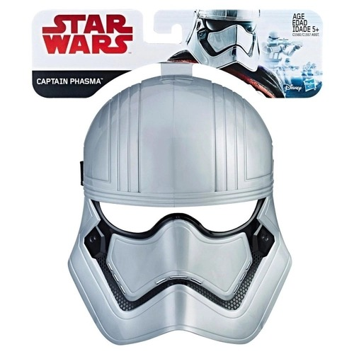 Máscara Infantil Temática Star Wars Captain Phasma Disney Hasbro