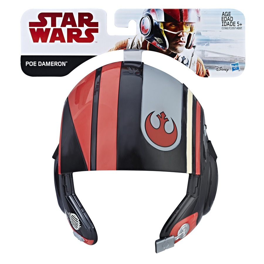 Máscara Infantil Temática Star Wars Poe Dameron Disney Hasbro