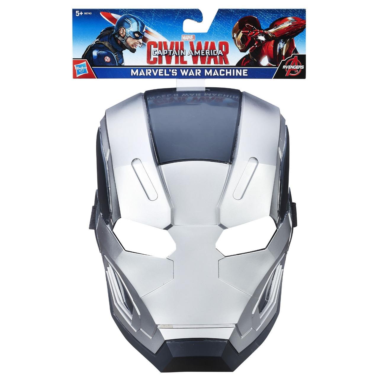 Máscara Infantil Temática War Machine Guerra Civil Marvel Com Apoio  Emborrachado Hasbro