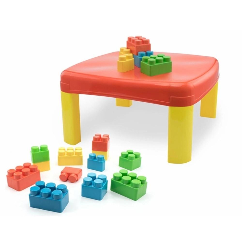 Mesa Infantil Kids Pedagógica Com 12 Blocos Grandes Simo Toys