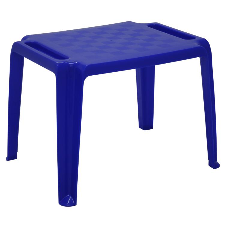 Mesa Infantil Tramontina Dona Chica Em Polipropileno Azul Escuro