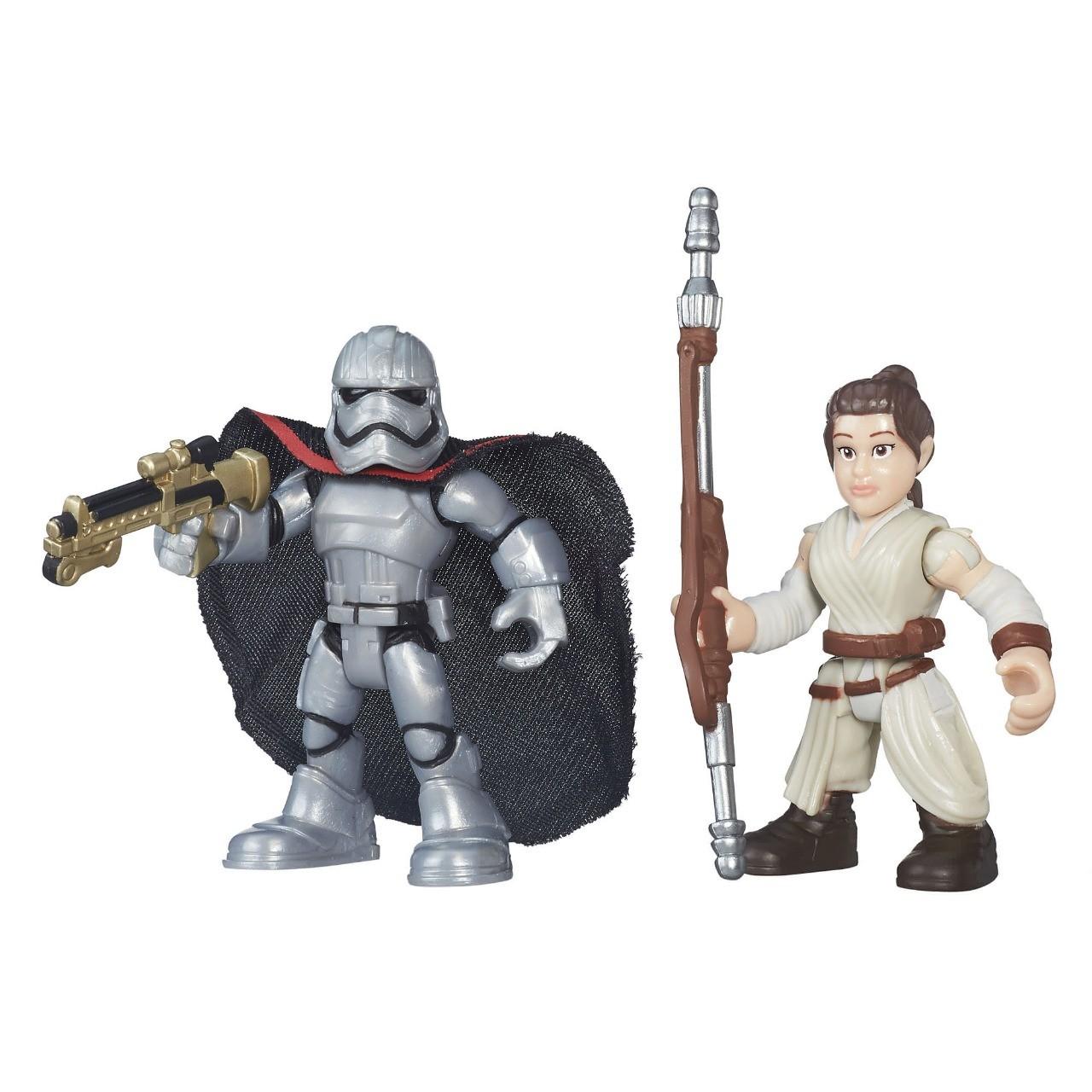 MIni Figuras Articuladas Galactic Heroes Star Wars Rei Jakku e Captain Phasma  Hasbro