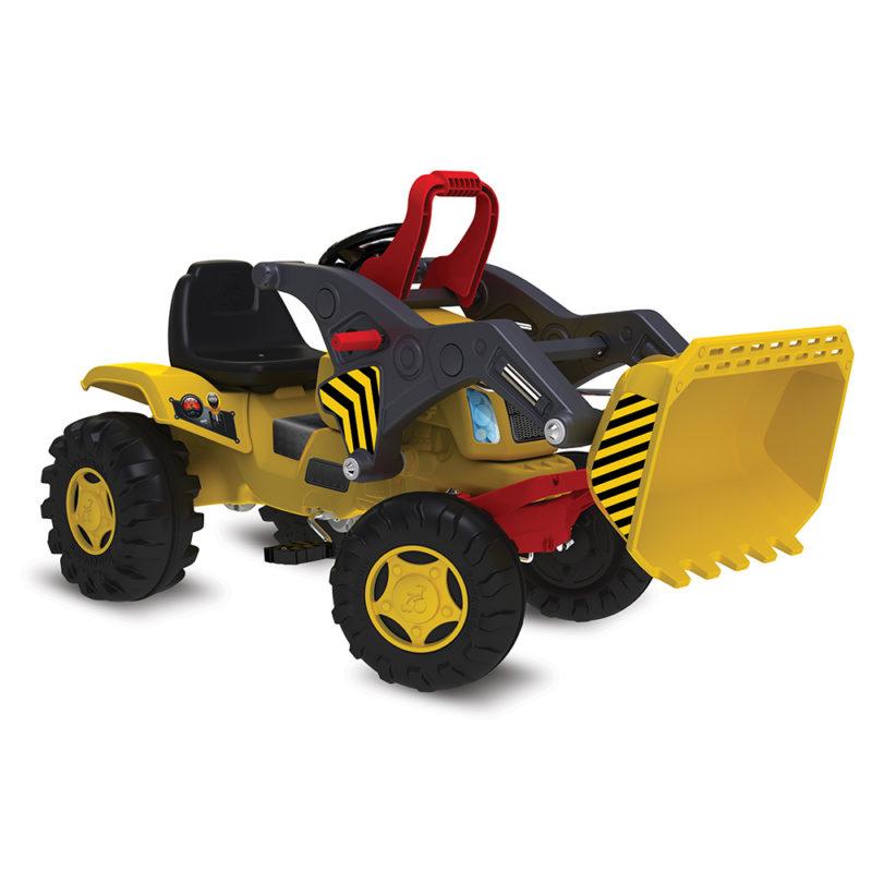 Mini Trator Escavadeira Infantil Pedal Bandeirante