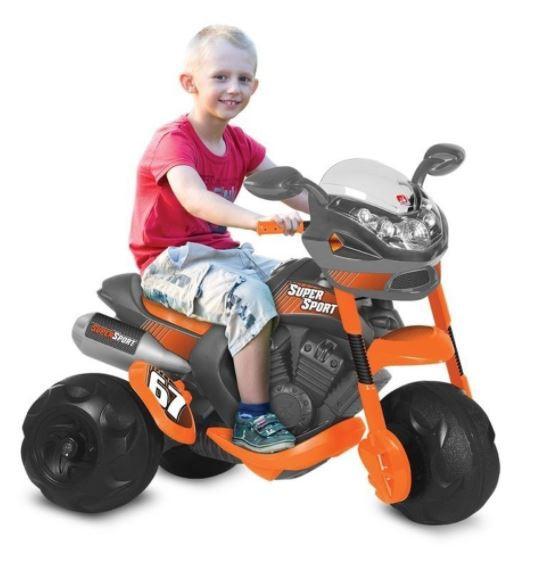 Triciclo Moto Elétrica Infantil SuperSport  6V Bandeirante
