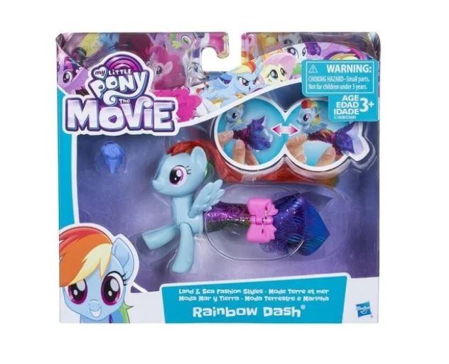 My Little Pony Vestido Mágico Moda Terrestre e Marinha Rainbow Dash Hasbro