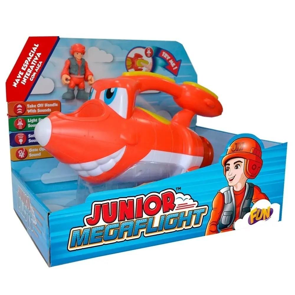 Nave Espacial Interativa Com Piloto Junior Megaflight 82780 Fun