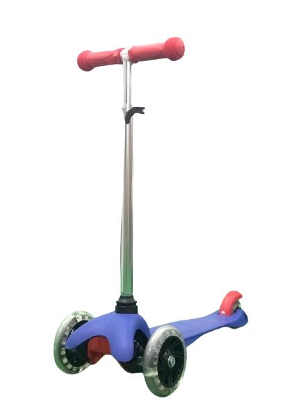 Patinete Skatenet Com Led Nas Rodas Modelo Azul BBR Toys