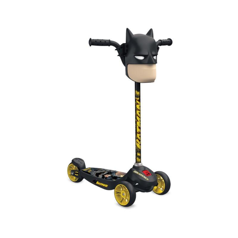 Patinete Skatenet Kid Batman Com Máscara Bandeirante