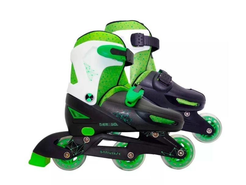 Patins Inline Infantil Ajustável Ben 10 Do 35 Ao 38 Astro Toys