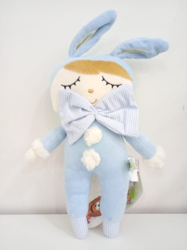Pelúcia Bonequinho Theo Azul 34 cm 1322 Mury Baby