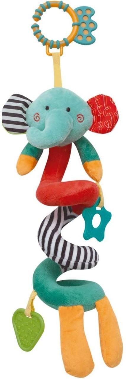Pelúcia De Atividades Elefantinho Mola Happy Zoo Buba