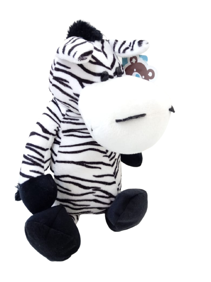Pelúcia Zebra Selva Animada 28 cm Sentada 6063 Buba