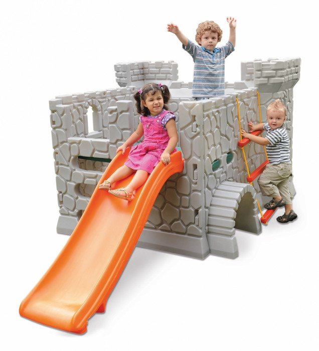 Playground Infantil Castelo Medieval Cinza Em Plástico Rotomoldado Xalingo 0970.9