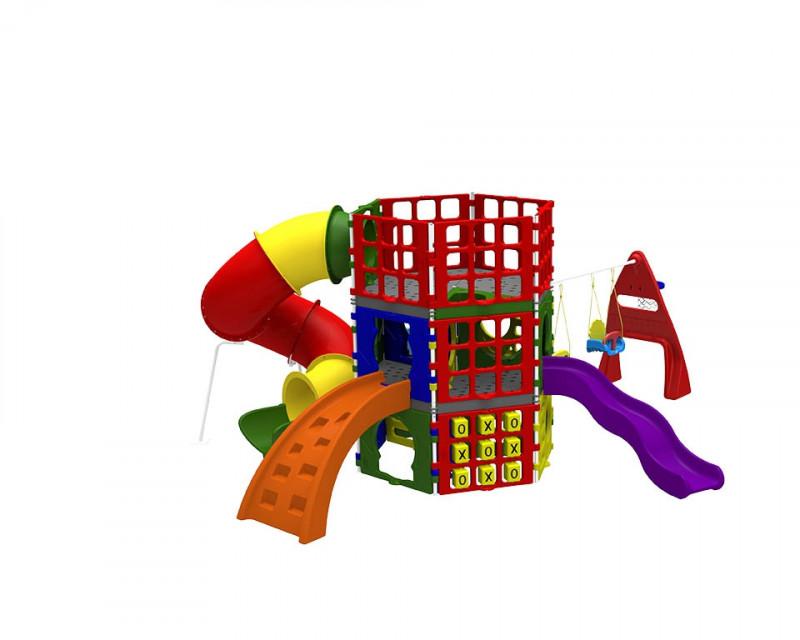 Playground Infantil PolyPlay Atlas Em Plástico Rotomoldado Xalingo 0975.5