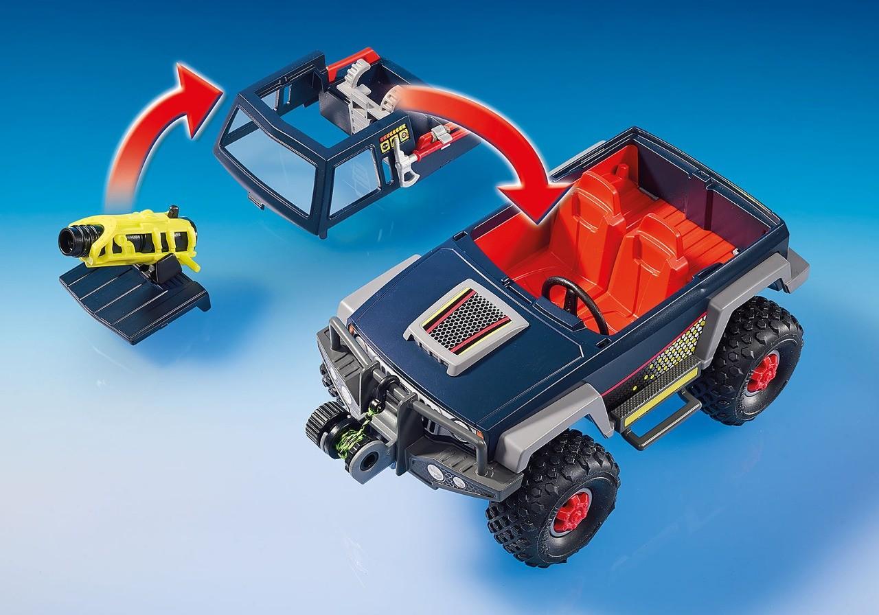 Playmobil Action Expedição Ártica Pirata Do Gelo Com Jipe Lançador e Guincho 9059 Sunny