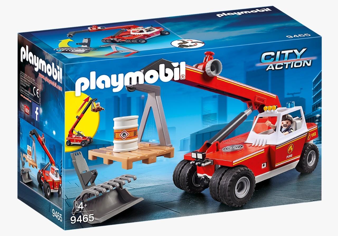 Playmobil Guindaste Corpo De Bombeiro Fire Crane 9465