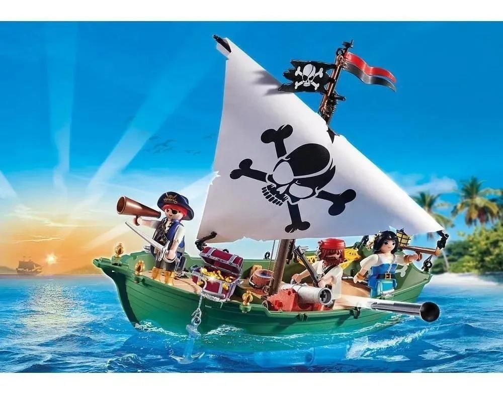 Playmobil Navio Pirata Com Motor Subaquático 70151 Sunny