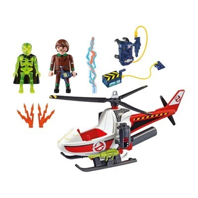 Playmobil The Real Ghostbuster Caça Fantasmas Helicoptero 9385 Sunny