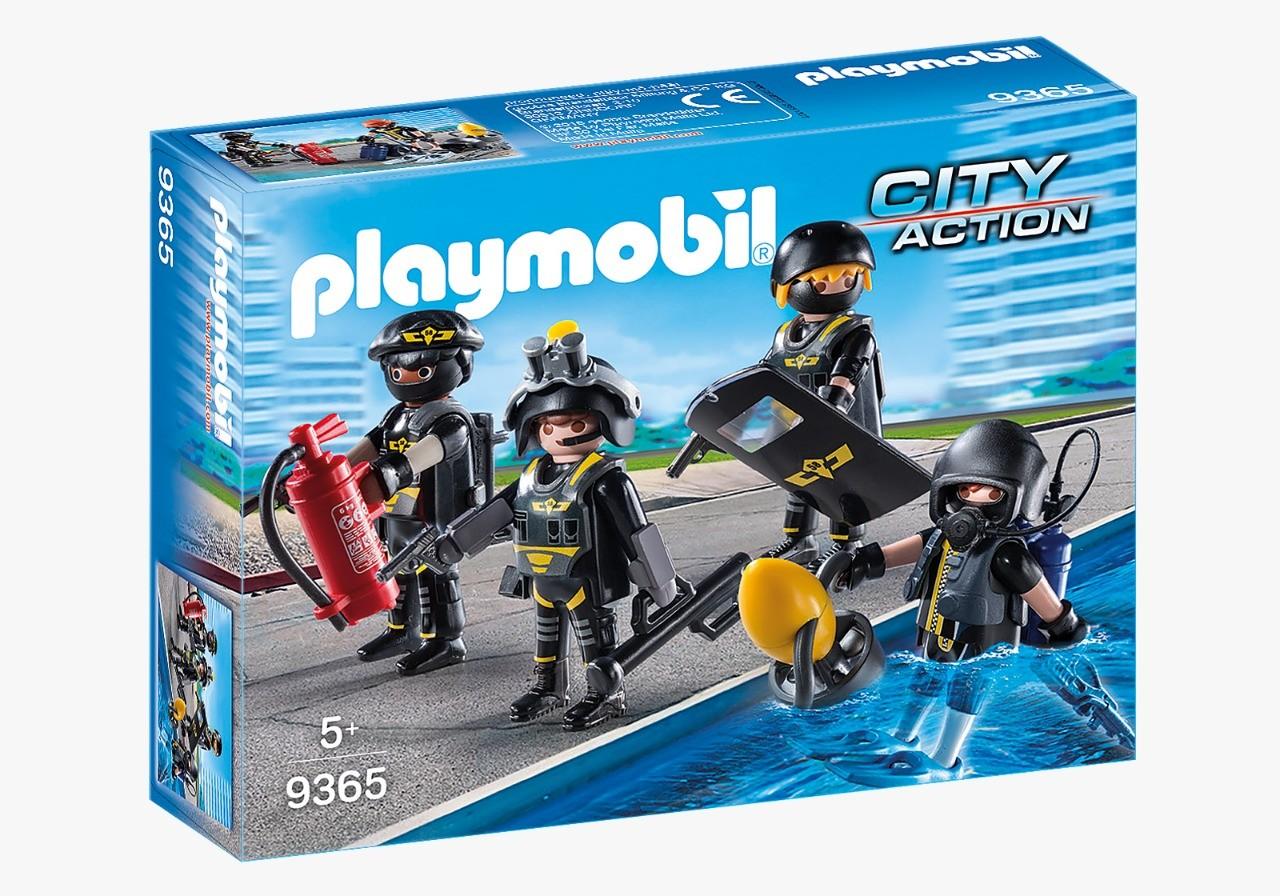 Playmobl City Action Equipe De Unidade Tática Com Acessórios 9365 Sunny
