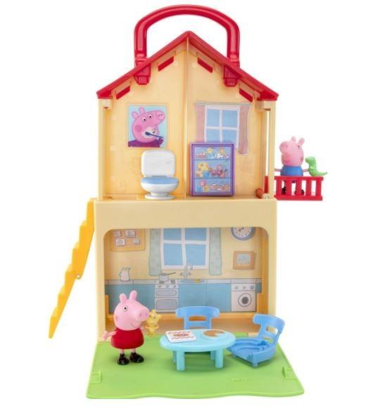Playset Casa e Maletinha Da Peppa Pig 02 Andares Sunny