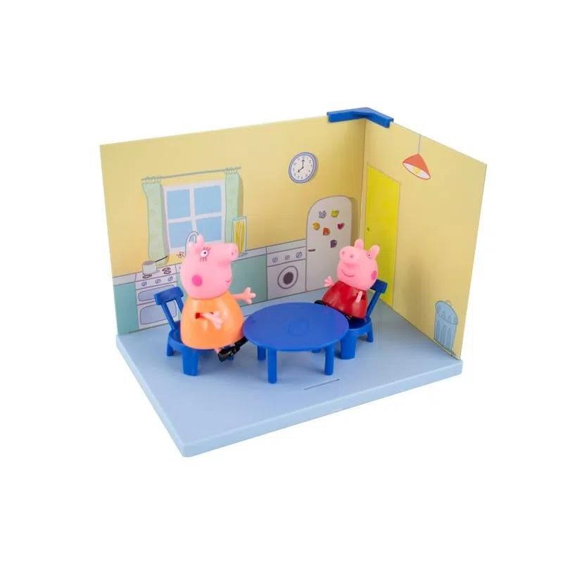 Playset Cenário Da Peppa Pig E Mamãe Pig Cozinha Com Acessórios Sunny