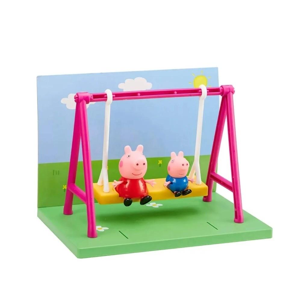 Playset Parquinho Da Peppa Pig Com Balanço e Bonecos Peppa e Jorge Pig Sunny