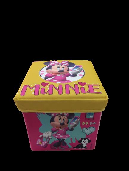 Porta Objeto 2 em 1 Banquinho e Organizador Minnie Zippy Toys