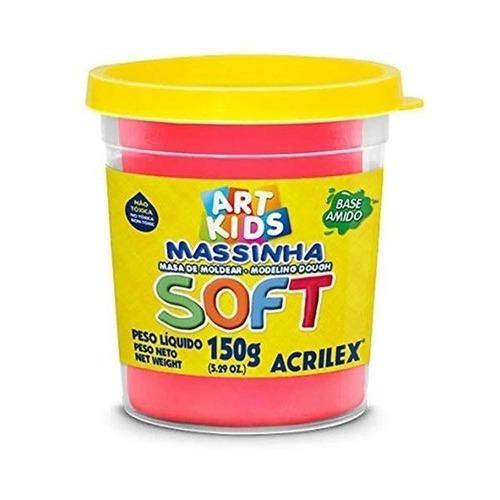 Pote Único De Massinha De Modelar Soft 150g Cor Sortida Art Kids Acrilex