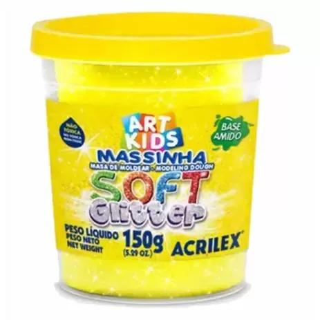 Pote Único De Massinha De Modelar Soft Glitter 150g Cor Sortida Art Kids Acrilex