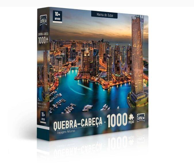 Quebra Cabeça 1000 Peças Paisagens Noturnas Marina De Dubai Toyster