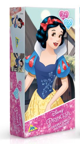 Quebra Cabeça 200 Peças Princesa Branca de Neve Metalizado Toyster